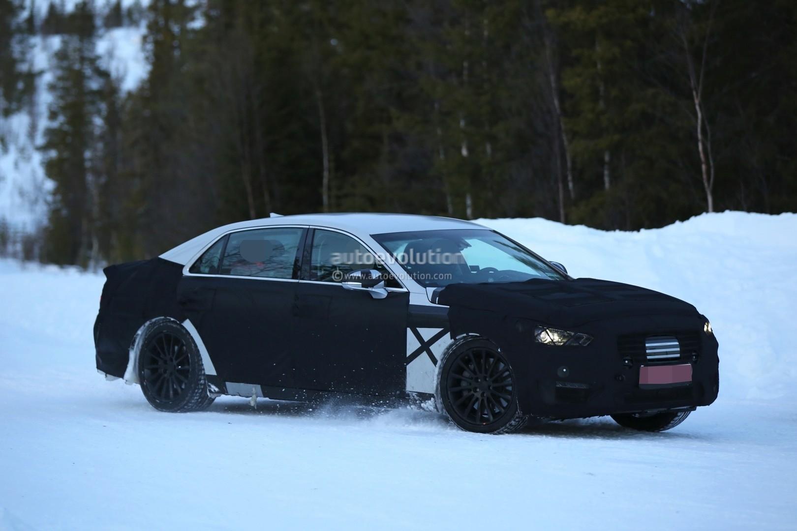 2016 Hyundai Equus Prototype Spied Testing Near Arctic ...