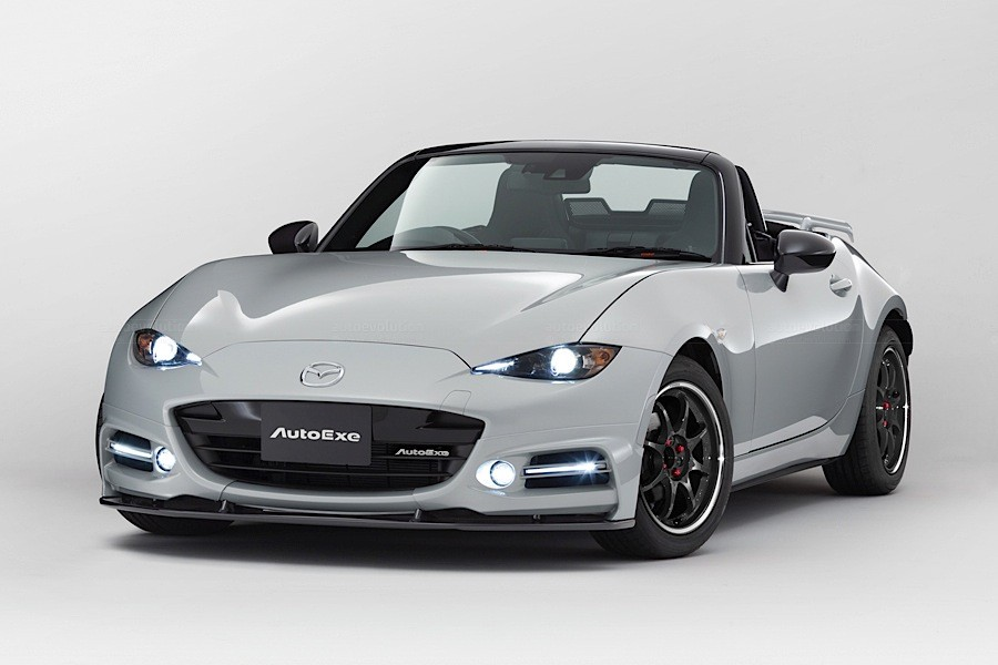 2016 mazda mx 5 gets tuning kit from autoexe in japan. Black Bedroom Furniture Sets. Home Design Ideas