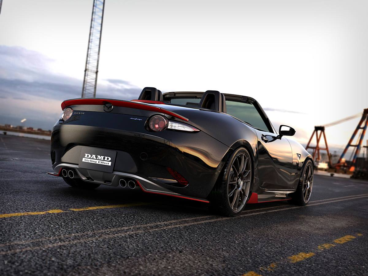 2016 mazda mx 5 roadster dark knight tuned by damd with carbon goodness autoevolution. Black Bedroom Furniture Sets. Home Design Ideas