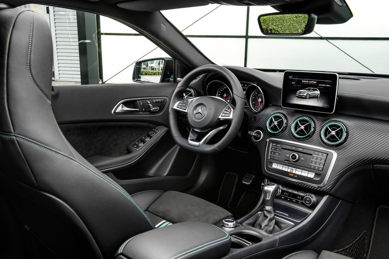2016 mercedes a class facelift debuts with new 1 6 engine for Mercedes a klasse amg interieur