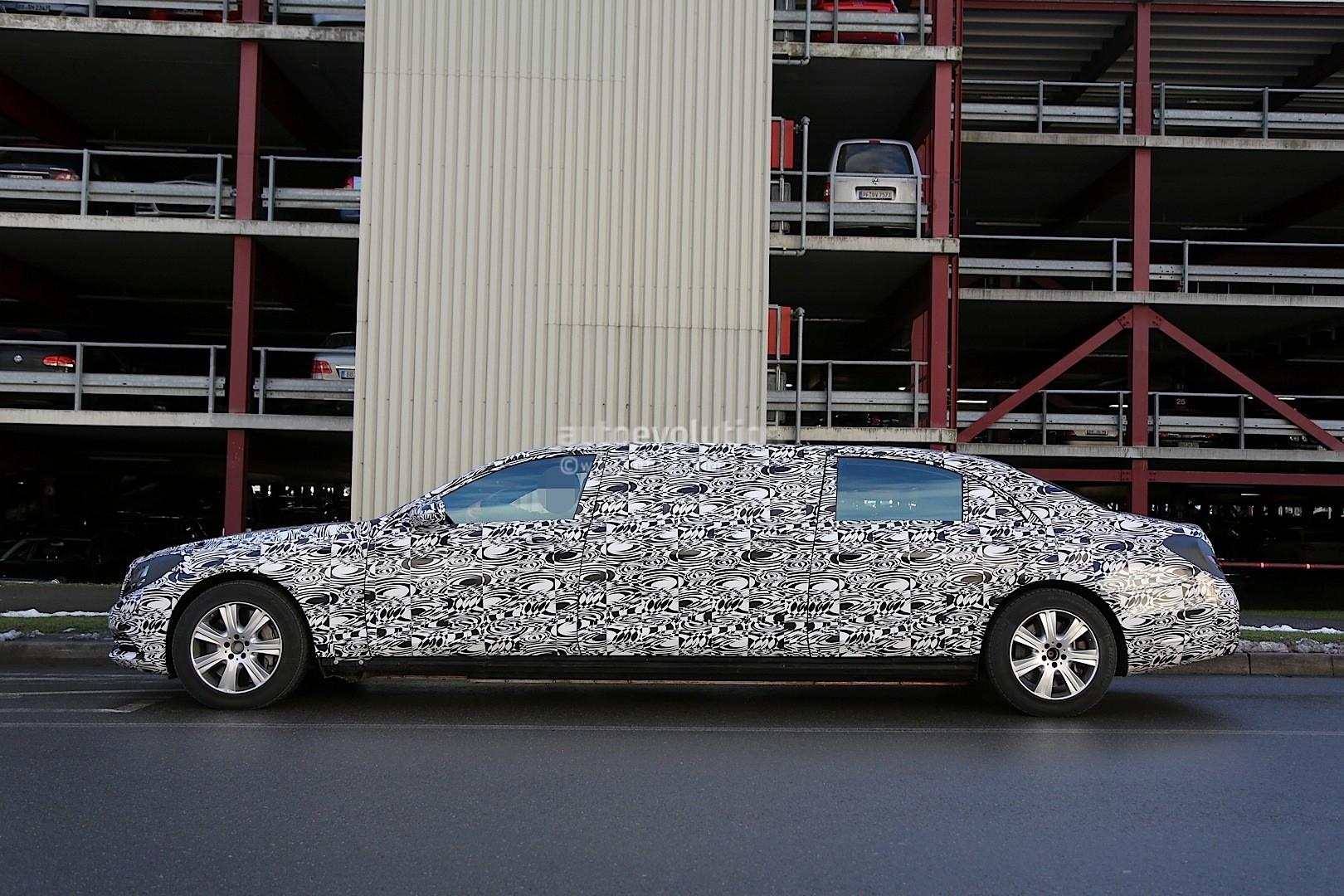 2016 mercedes benz s600 pullman interior spyshots show for Mercedes benz 600 price