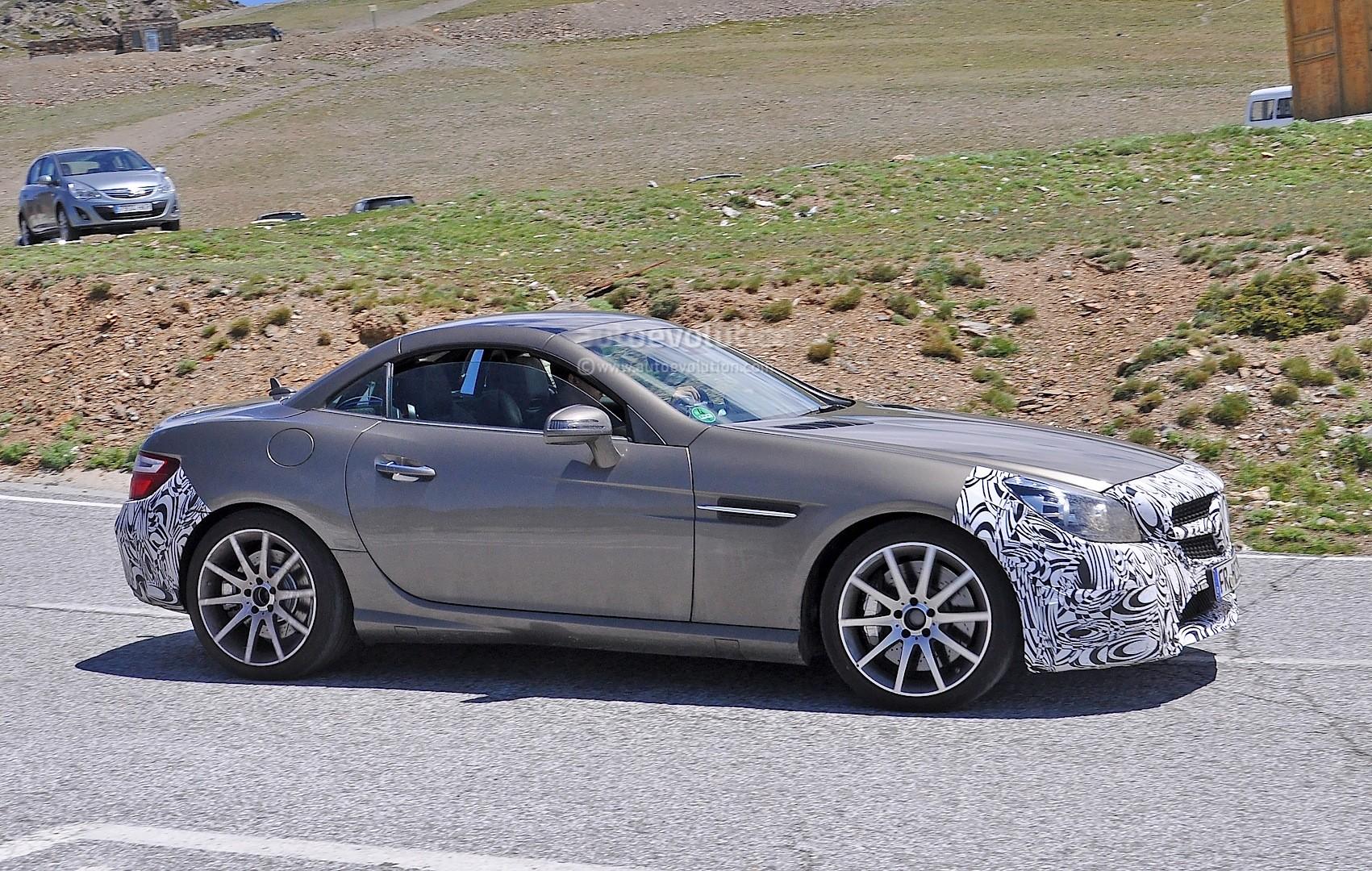 2016 mercedes benz slc 450 amg sport spied on public roads for Mercedes benz 450 slc
