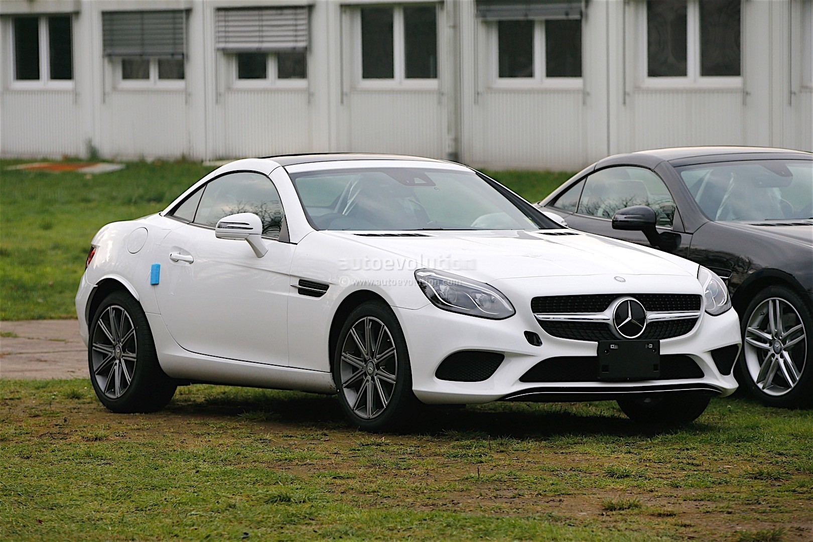 2017 Mercedes Benz Slc Facelift Caught Without Any Makeup