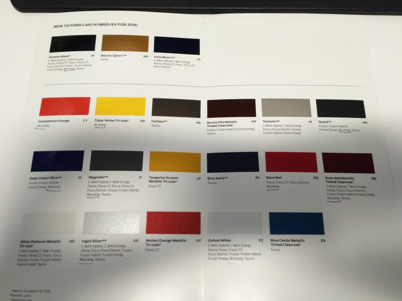 Mustang Confirmed To Bring California Special Pack Ordering Books Open On May Th on 2015 Ford Mustang Color Chart