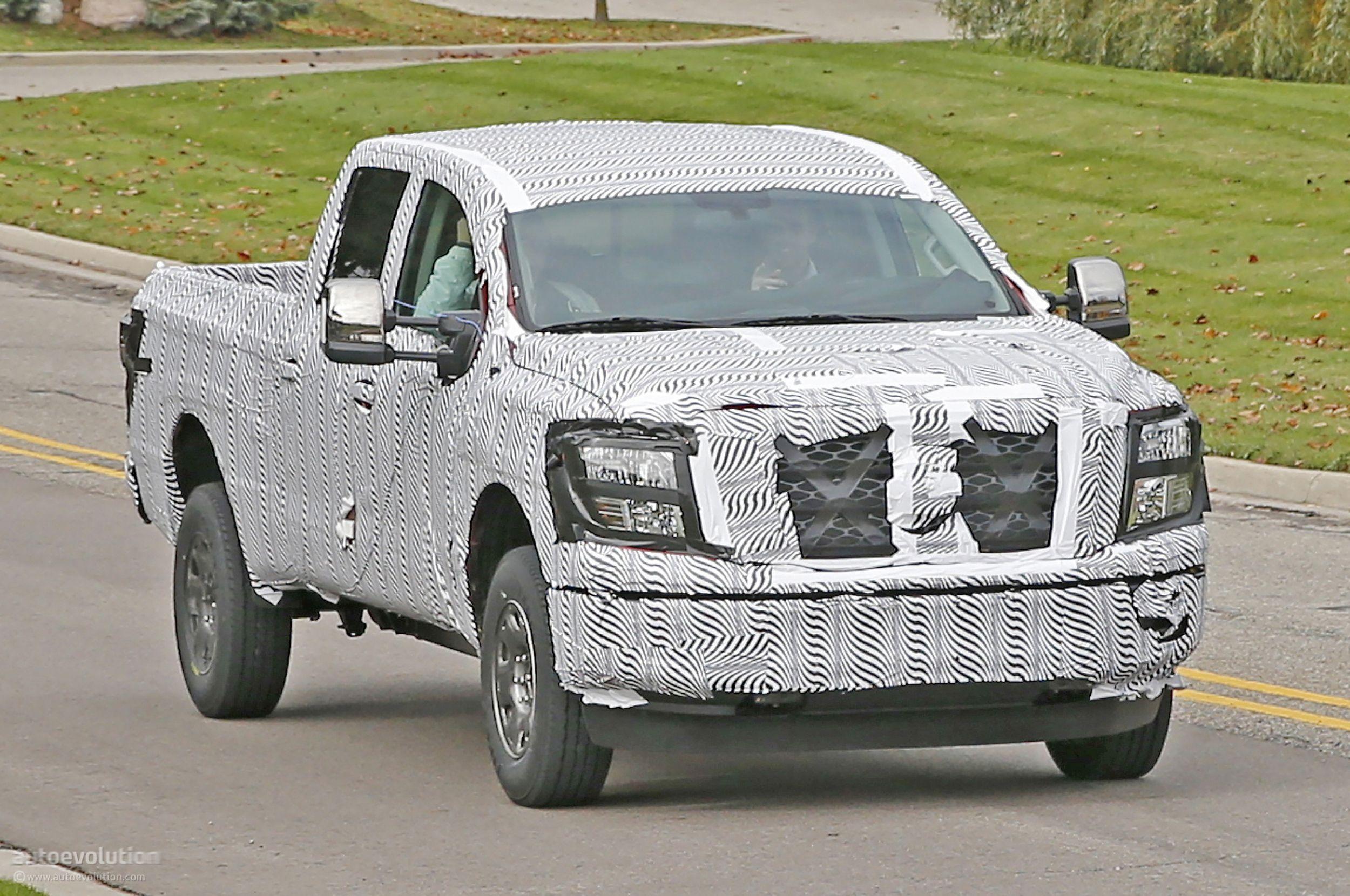 2016 Nissan Titan Spied Testing Isv Cummins Turbo Diesel Autoevolution