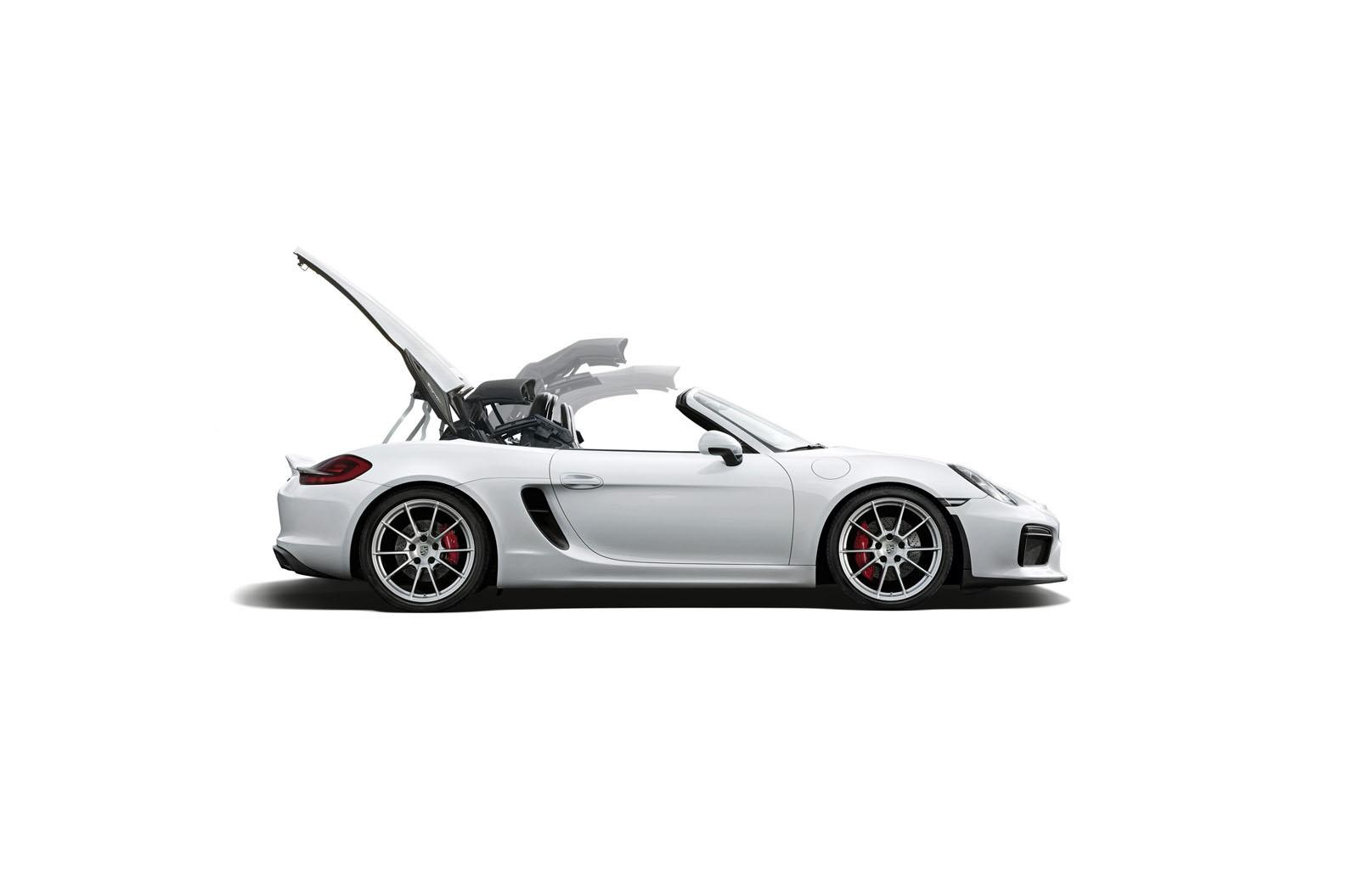 2016 porsche boxster spyder in detail roof demo configurator live video photo gallery. Black Bedroom Furniture Sets. Home Design Ideas