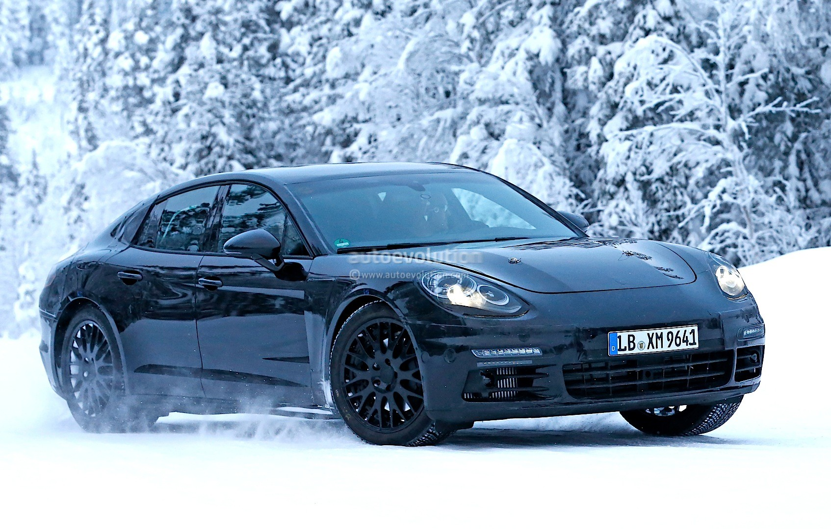 2016 Porsche Panamera Spied Playing In The Snow