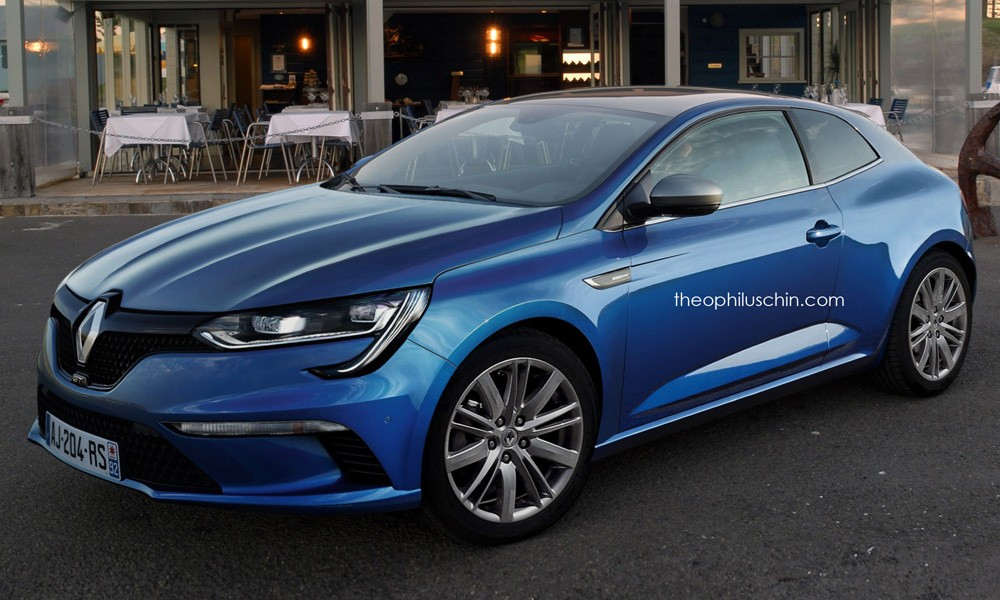 2016 renault megane coup rendered autoevolution. Black Bedroom Furniture Sets. Home Design Ideas