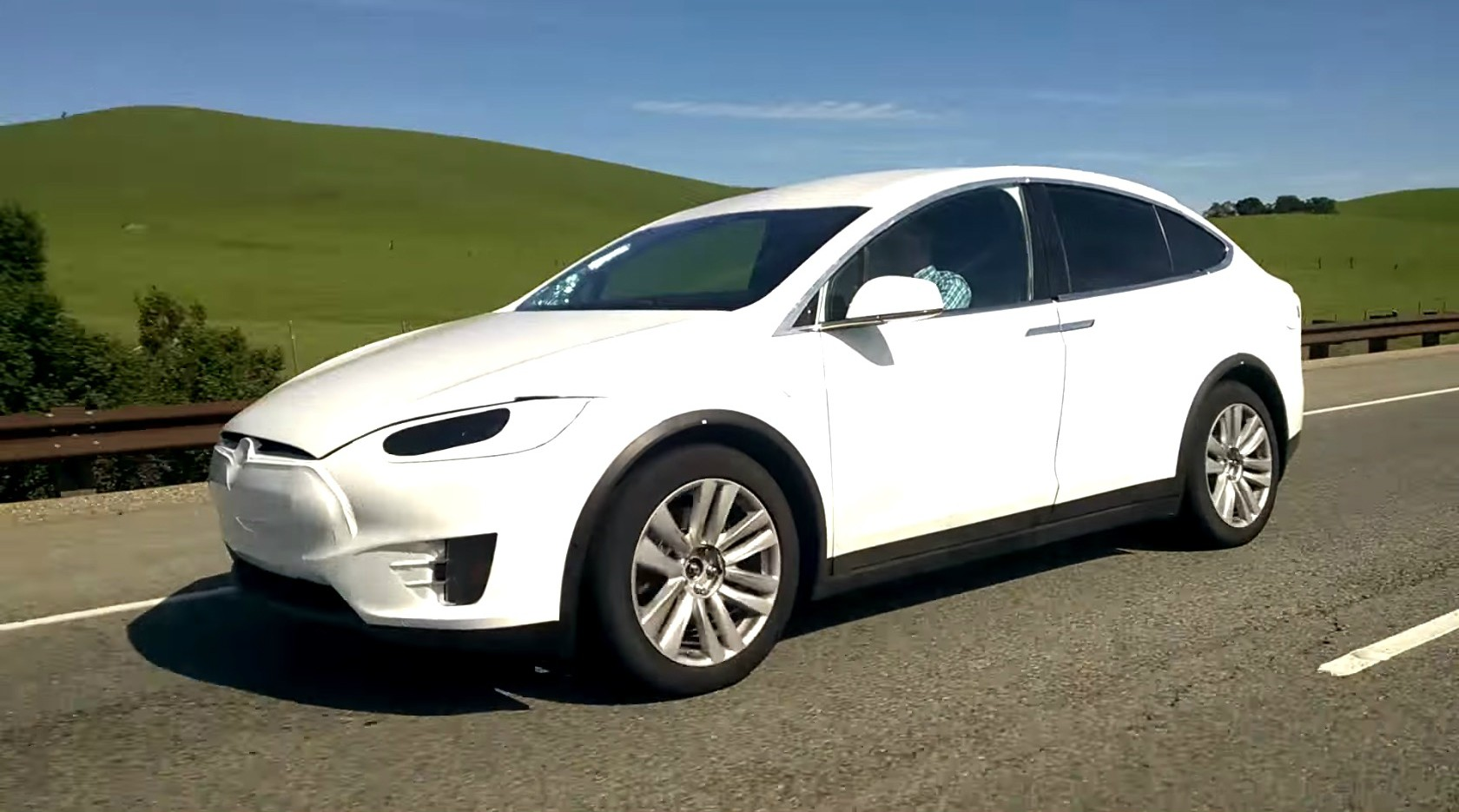 2016 tesla model x spied in california it s got a tow. Black Bedroom Furniture Sets. Home Design Ideas