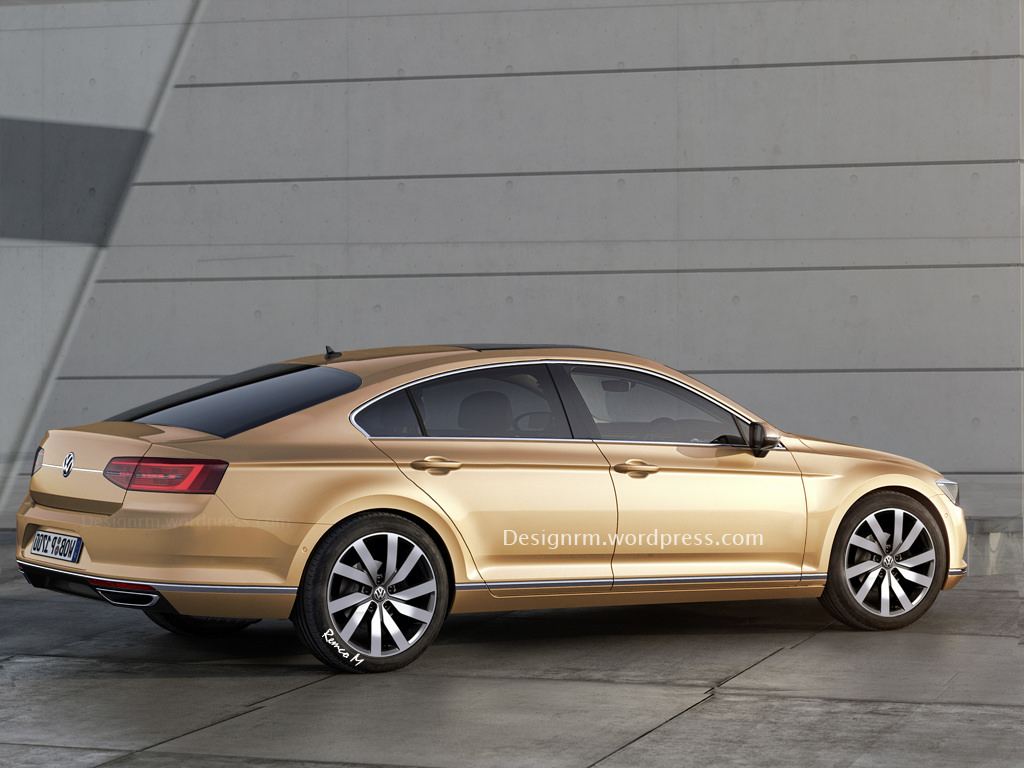 2016 volkswagen cc rendered to four door coupe perfection autoevolution. Black Bedroom Furniture Sets. Home Design Ideas
