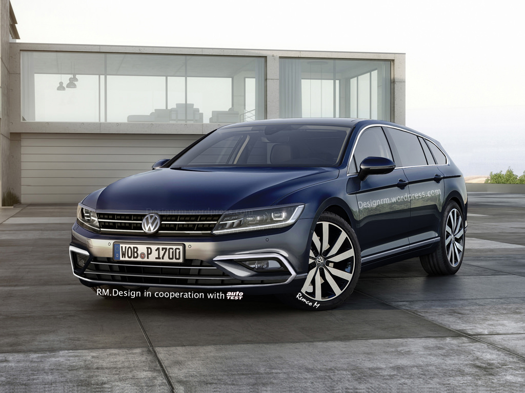 2016 volkswagen cc shooting brake rendered autoevolution. Black Bedroom Furniture Sets. Home Design Ideas
