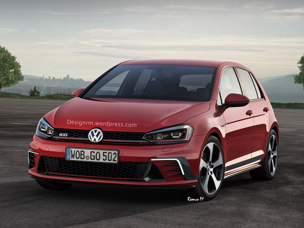2016 volkswagen golf and golf gti speculatively rendered. Black Bedroom Furniture Sets. Home Design Ideas