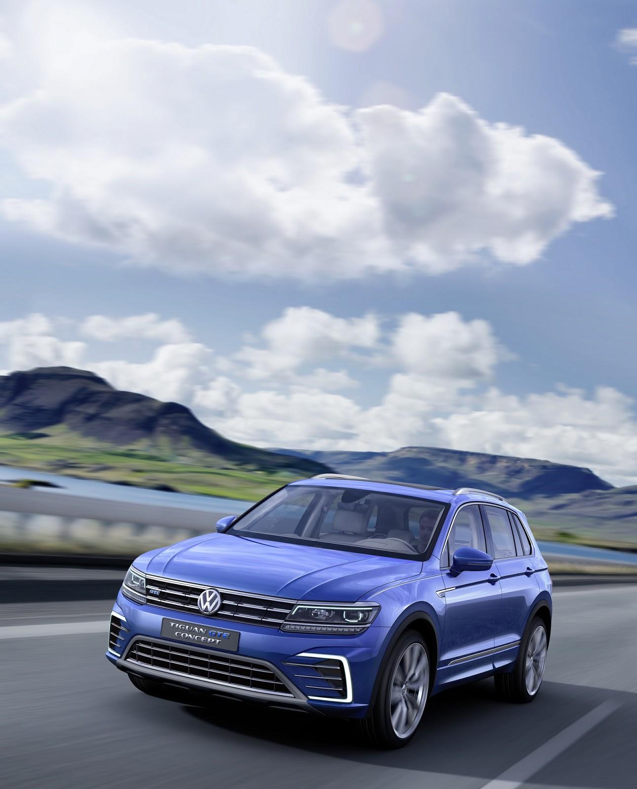 Volkswagen 2015 Tiguan: Volkswagen Tiguan GTE Concept Revealed With 218 PS And 50