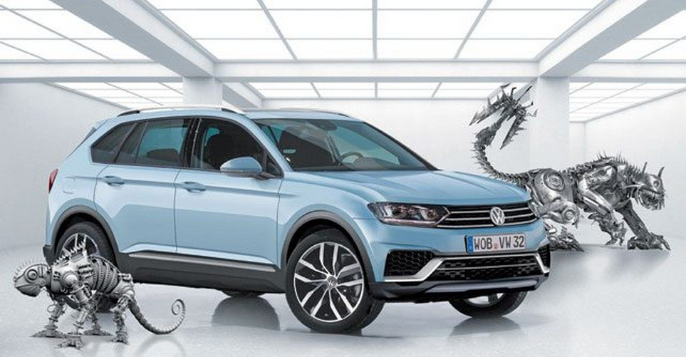 2016 volkswagen tiguan rendering shows the shape of things to come autoevolution. Black Bedroom Furniture Sets. Home Design Ideas