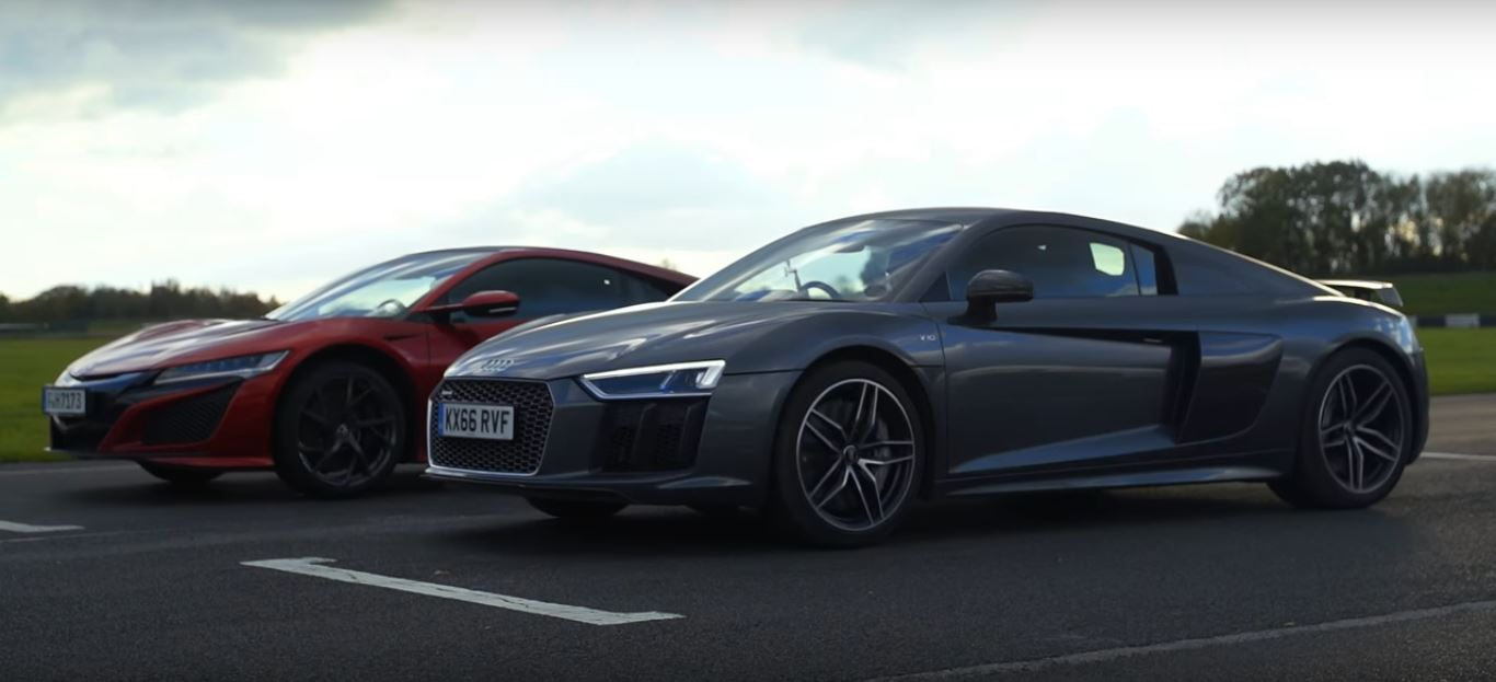 2017 Acura NSX Gets Bashed by 2016 Audi R8 V10 Plus in a Track Battle ...
