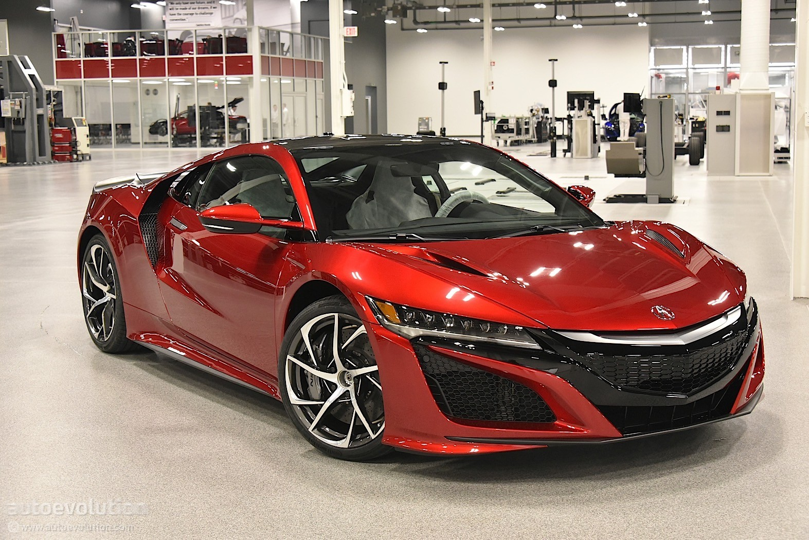 2017 Acura Nsx Gets Widebody Kit And Roof Box In Brutal Rendering Autoevolution