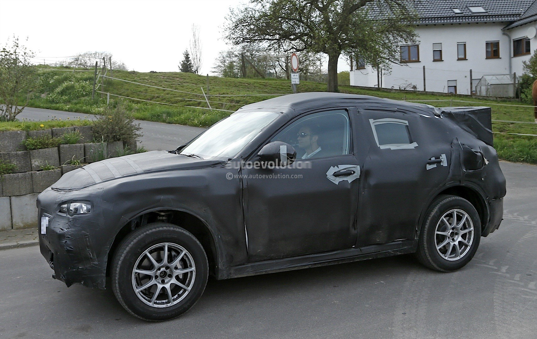 2017 alfa romeo stelvio spied at the nurburgring. Black Bedroom Furniture Sets. Home Design Ideas