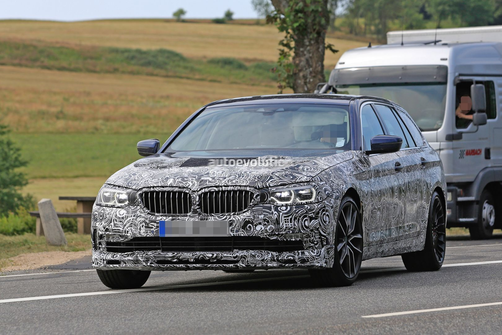 2017 bmw alpina b5 touring g31 spied to be the fastest. Black Bedroom Furniture Sets. Home Design Ideas