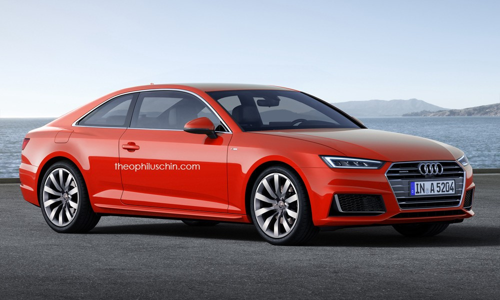 2017 audi a5 coupe rendered once more artist admits it looks boring autoevolution. Black Bedroom Furniture Sets. Home Design Ideas