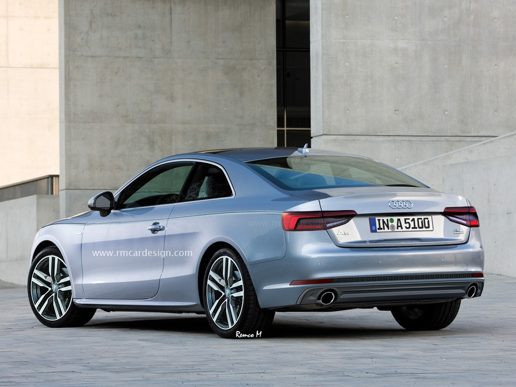 Audi audi a4 coup : 2017 Audi A5 Rendered Again, We Can See Audi A4's Influence Oozing ...