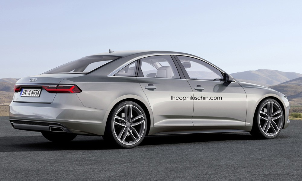 2017 audi a6 rendered with prologue styling cues autoevolution. Black Bedroom Furniture Sets. Home Design Ideas