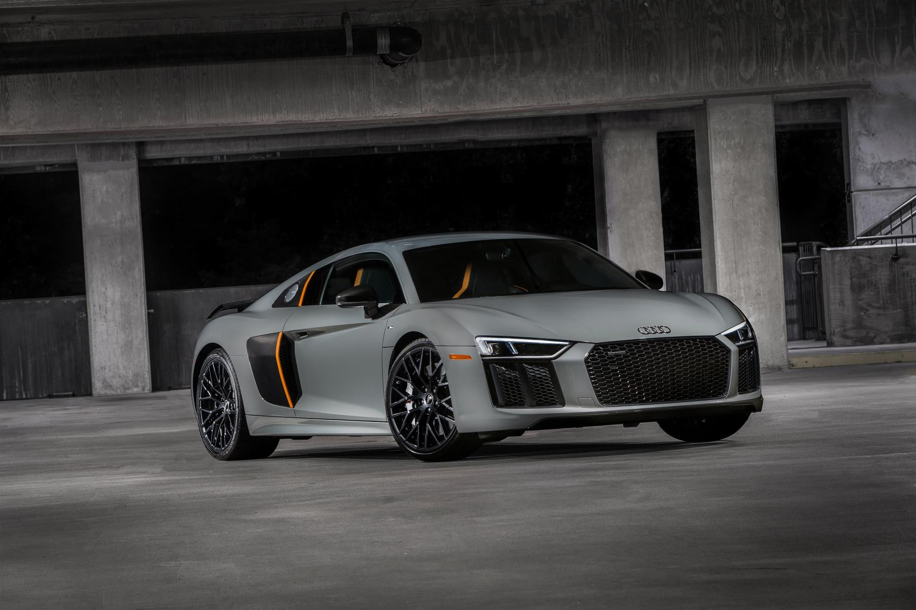 2017 audi r8 v10 plus finally gets laser headlights in the us the particular model that has upgraded beams is called the r8 v10 plus exclusive edition and is still part of the 2017 model year roster publicscrutiny Images