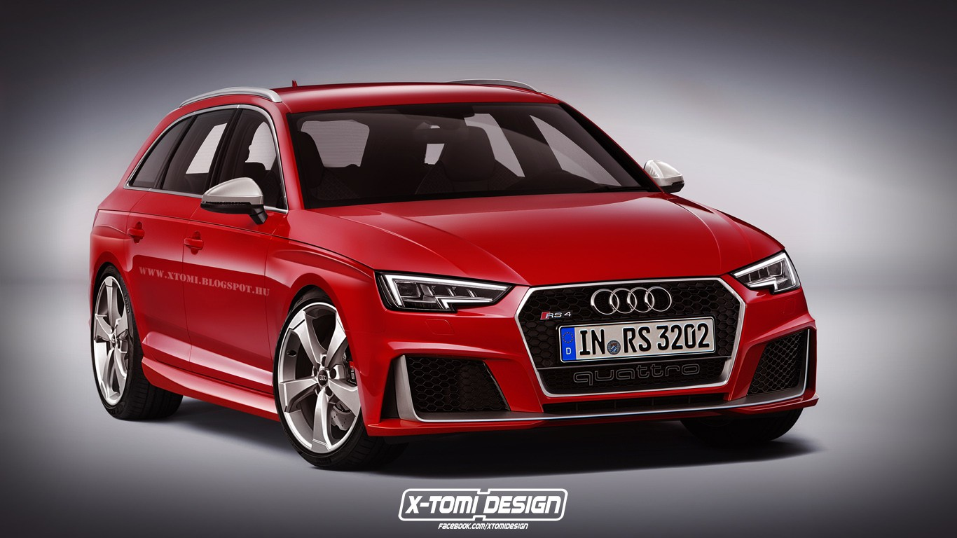 2017 audi rs4 avant rendered but what will power it autoevolution. Black Bedroom Furniture Sets. Home Design Ideas
