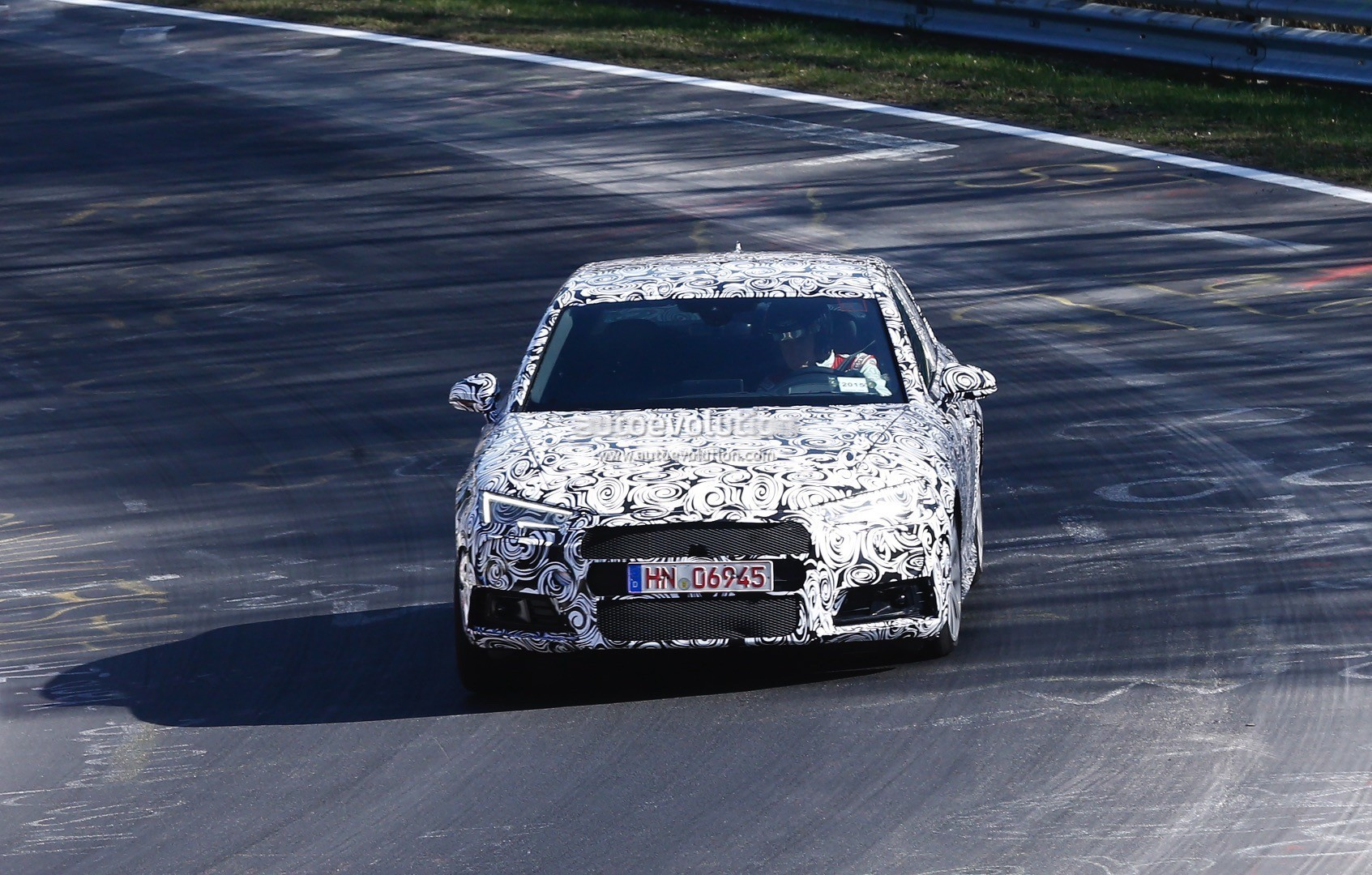 2017 audi s4 avant and sedan spotted testing on the nurburgring for the first time autoevolution