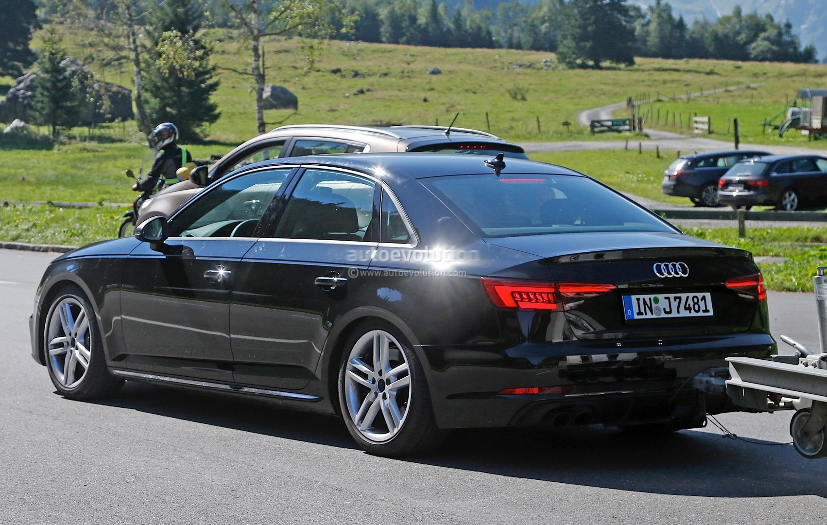 2017 Audi S4 Spotted Testing in the Alps, the Camouflage is Completely Gone - autoevolution