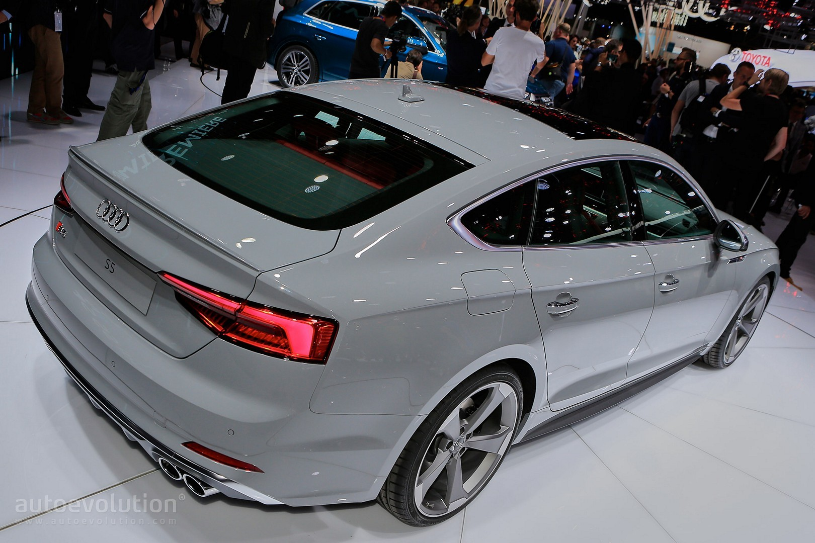 2016 Audi Q5 >> 2017 Audi S5 Sportback Looks Like a Shark Thanks to Nardo Gray Paint - autoevolution