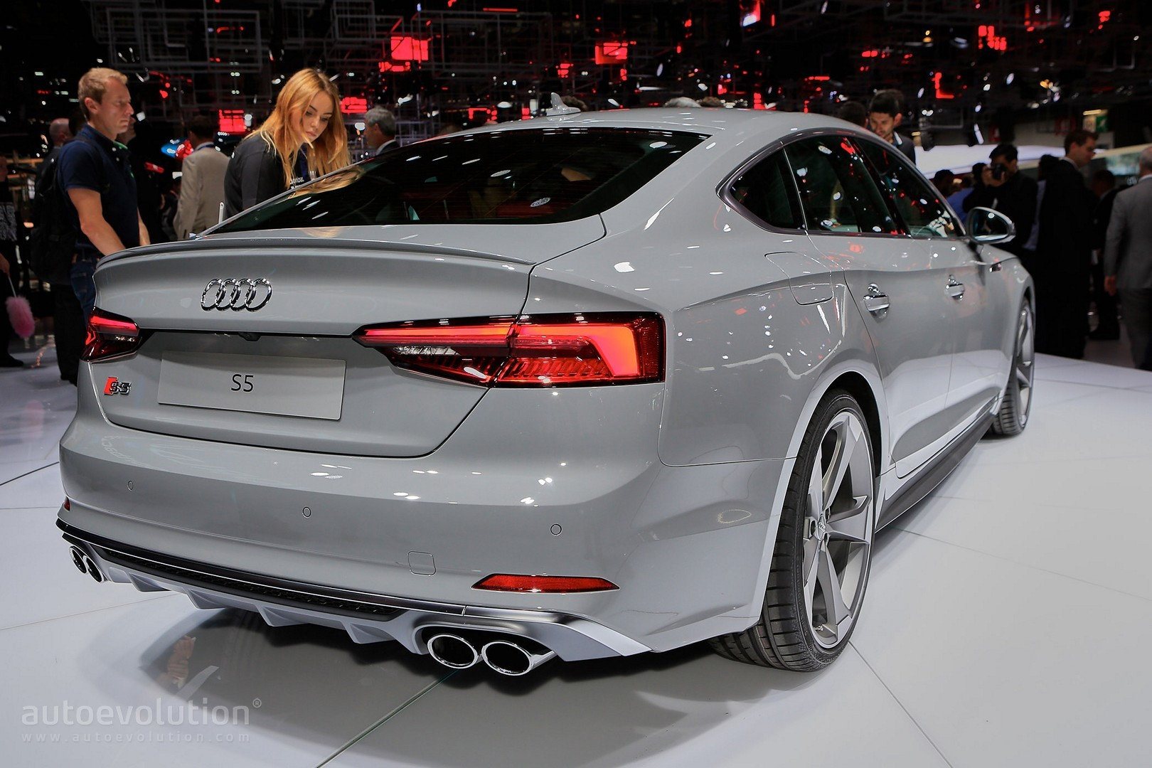 2017 Audi S5 Sportback Looks Like a Shark Thanks to Nardo Gray Paint ...