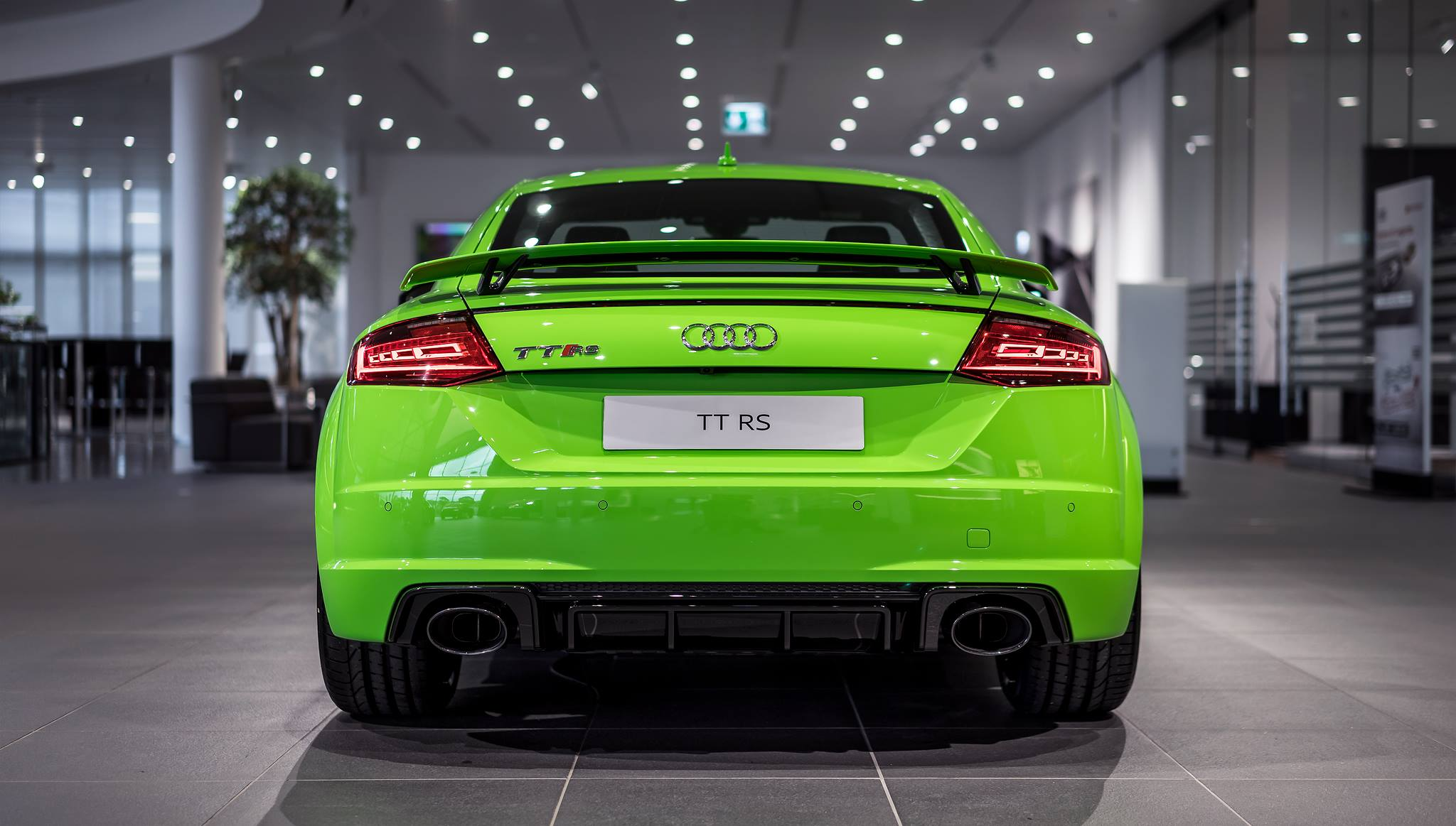2017 Audi TT RS in Lime Green Looks Like a Tiny Exotic Car ...