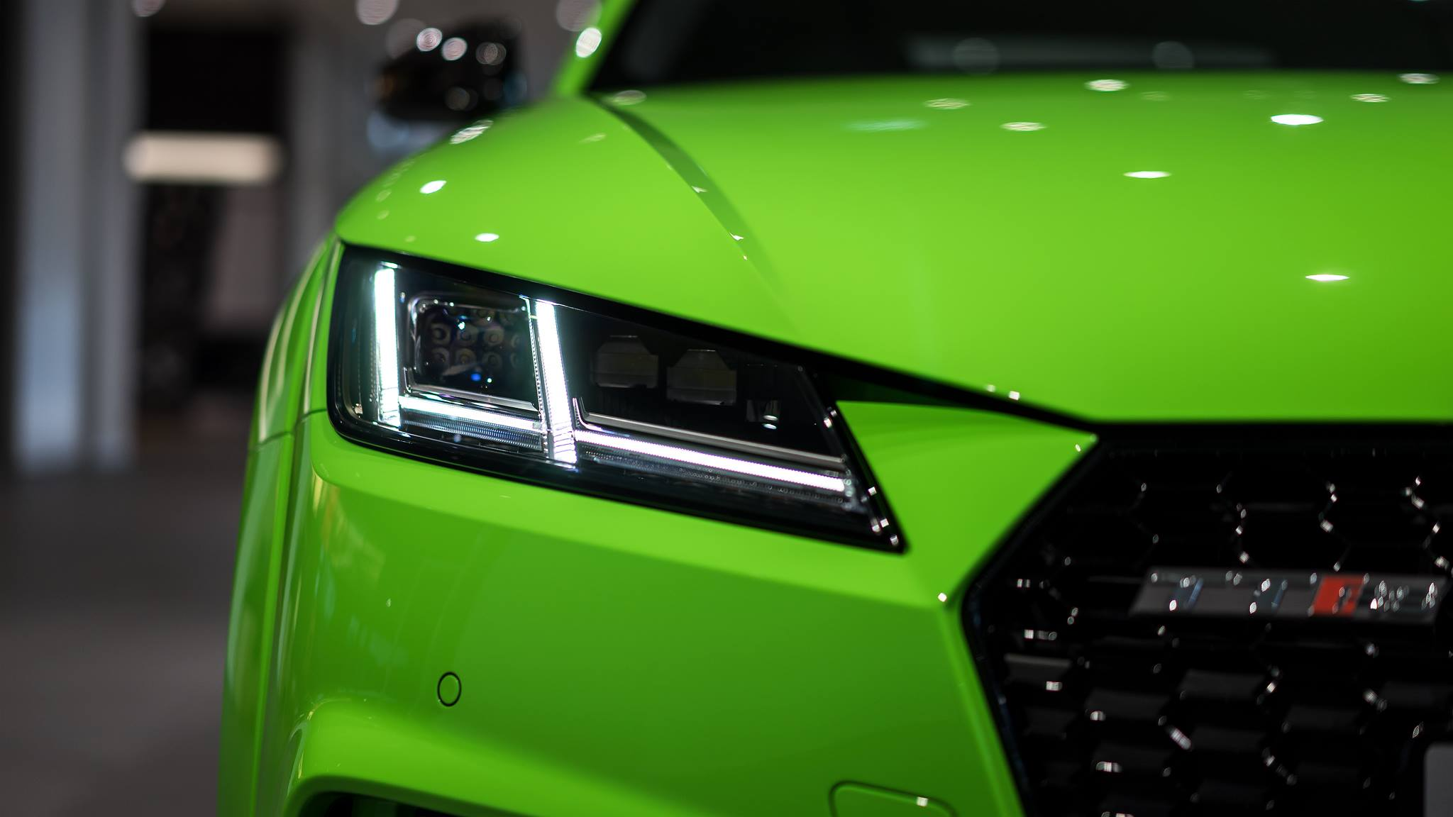 Auto Car Wash >> 2017 Audi TT RS in Lime Green Looks Like a Tiny Exotic Car ...