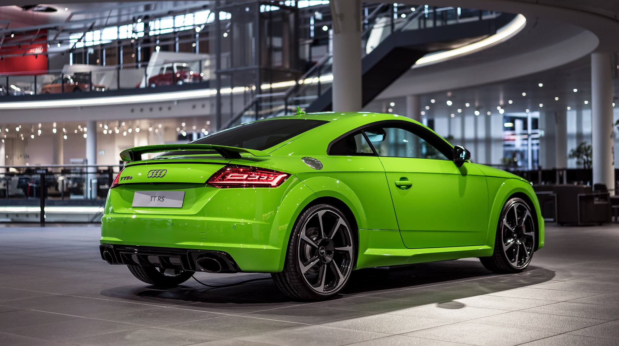 Dark green car paint colors -  2017 Audi Tt Rs In Lime Green Looks Like A Tiny Exotic Car