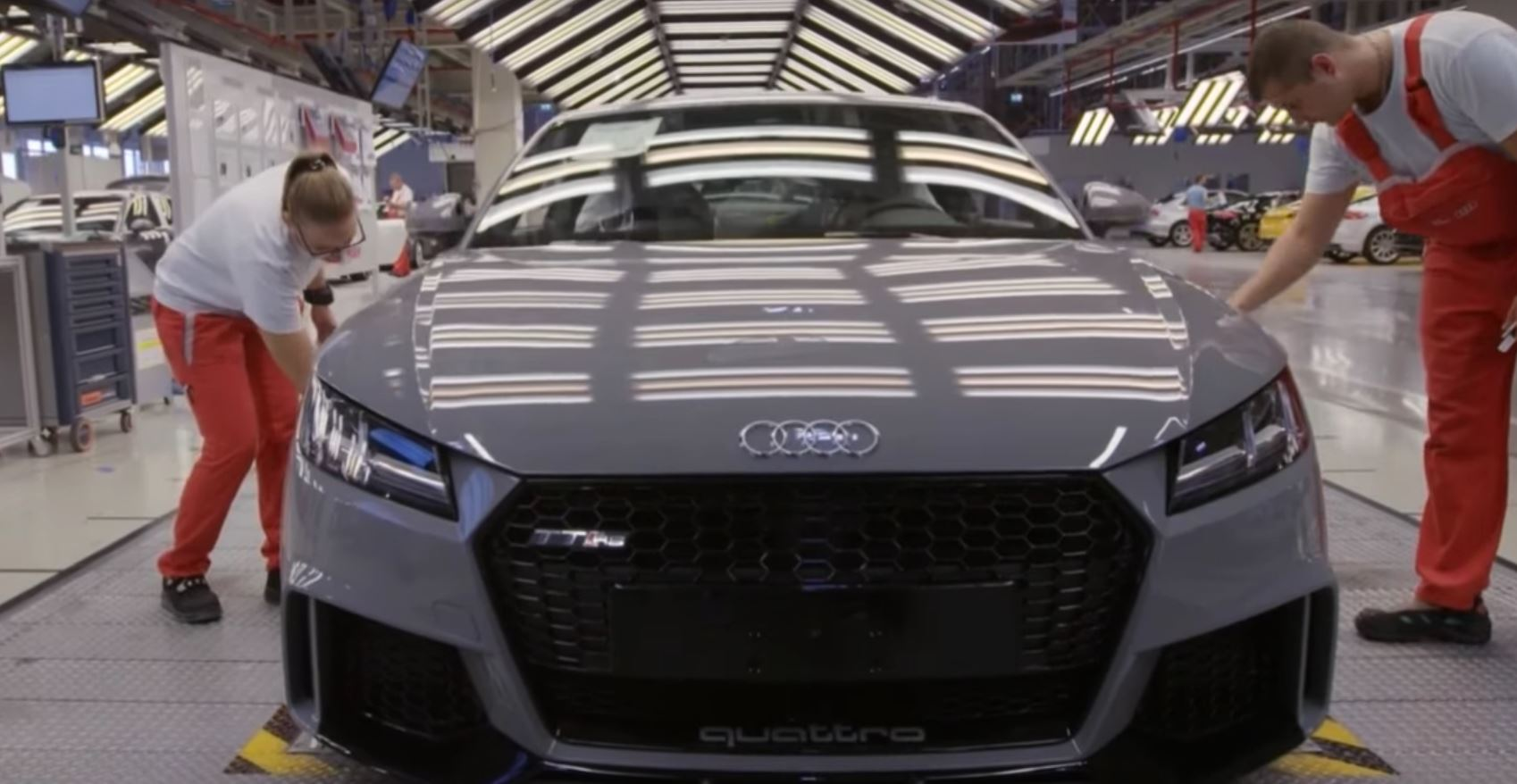 Model 2017 Audi TT RS Production Videos Go Behind The Scenes
