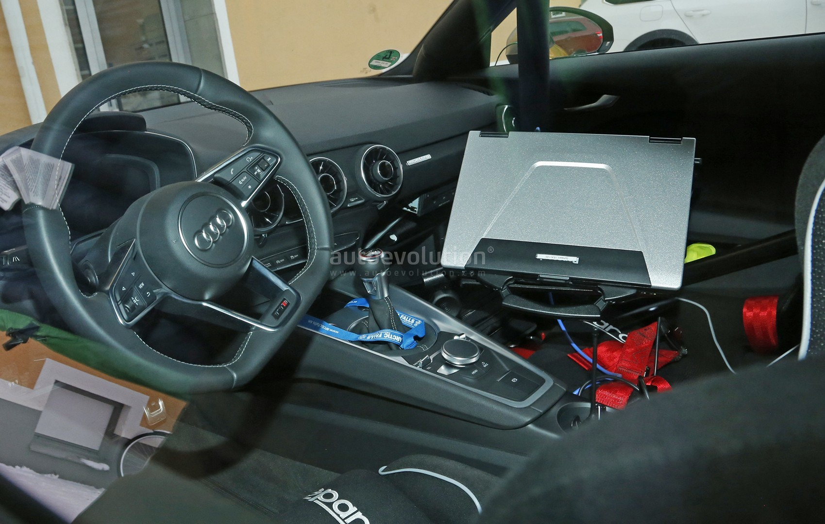 2017 Audi Tt Rs Spy Photos Reveal Manual Gearbox For The First Time