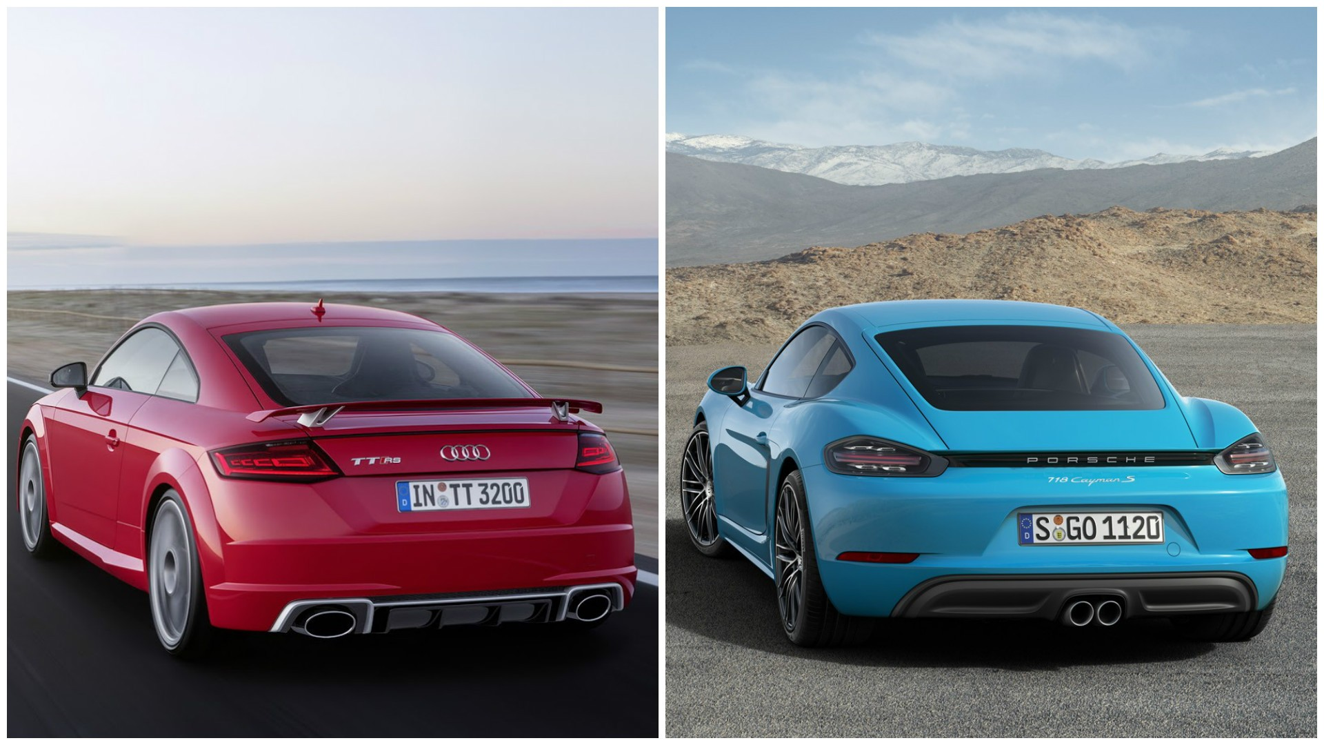 2017 Audi Tt Rs Vs Porsche 718 Boxster And 718 Cayman