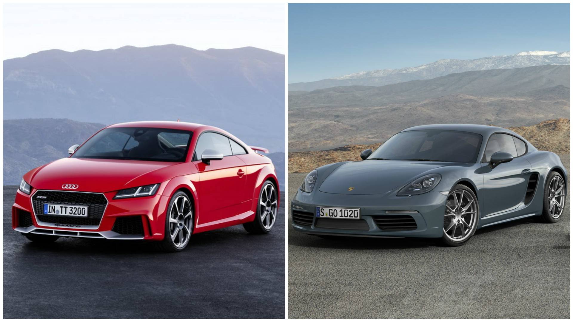 2017 audi tt rs vs porsche 718 boxster and 718 cayman photo comparison autoevolution. Black Bedroom Furniture Sets. Home Design Ideas