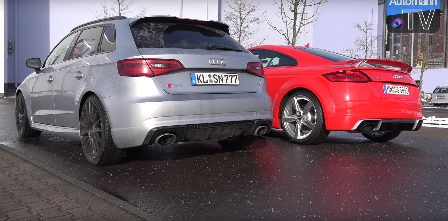 audi tt rs crushes porsche 718 cayman s in exhaust sound battle autoevolution. Black Bedroom Furniture Sets. Home Design Ideas