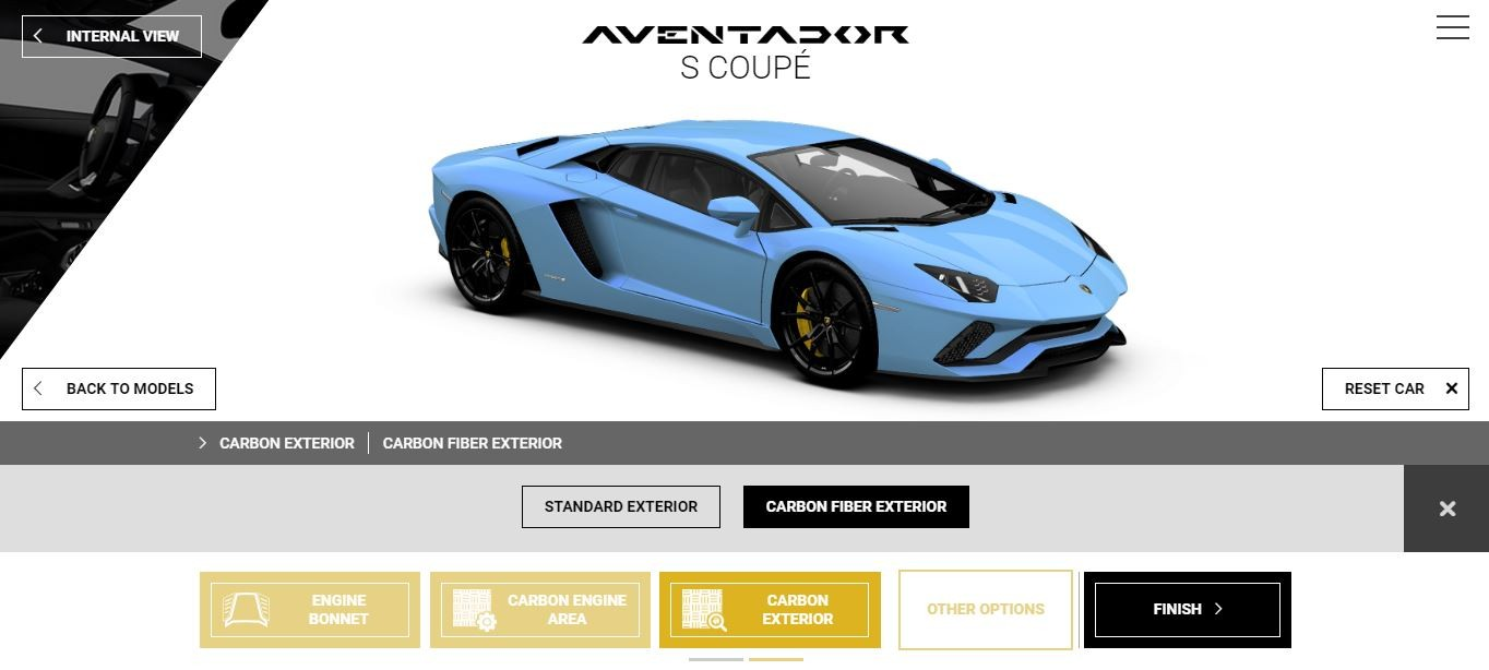 2017 Lamborghini Aventador S Now Available For Play On Configurator Autoevolution