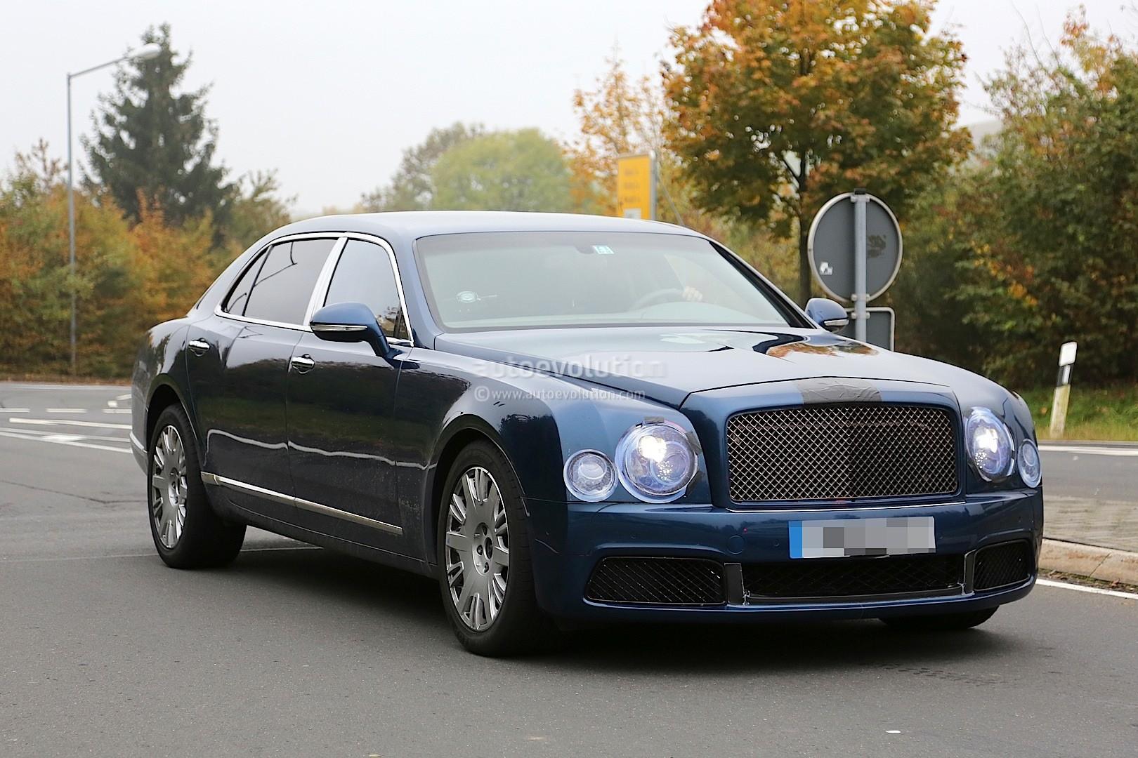 2017 Bentley Flying Spur >> 2017 Bentley Mulsanne Spyshots Reveal Long Wheelbase Model, Arnage-like Front Bumper - autoevolution