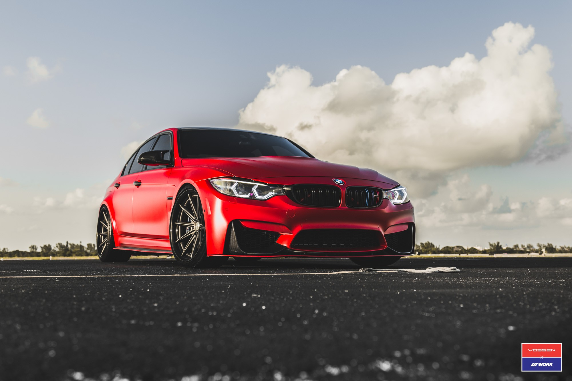 2017 BMW M3 Facelift in Red Gets Custom Vossen Wheels ...