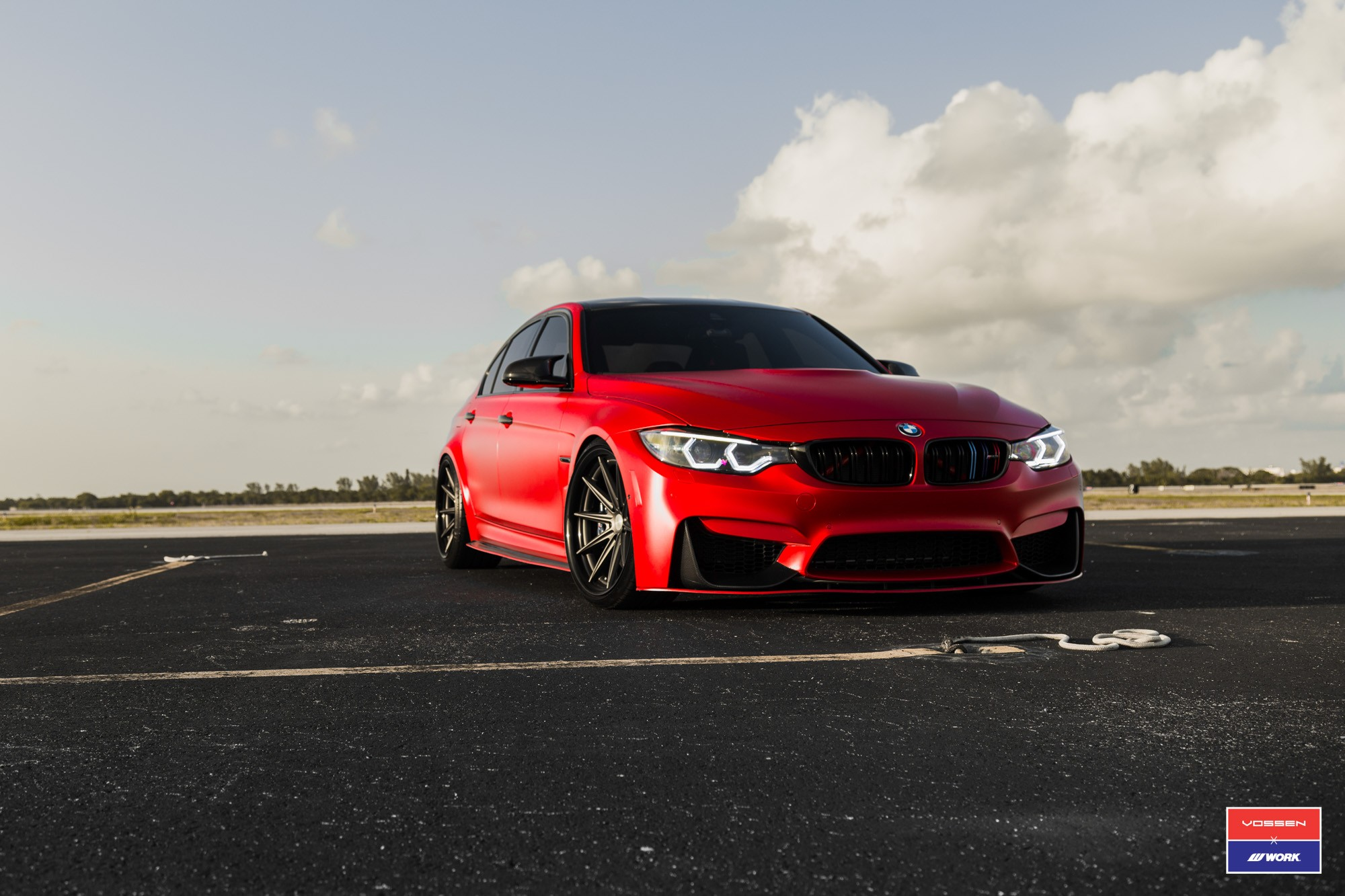 ... 2017 BMW M3 Facelift In Red Gets Custom Vossen Wheels ...