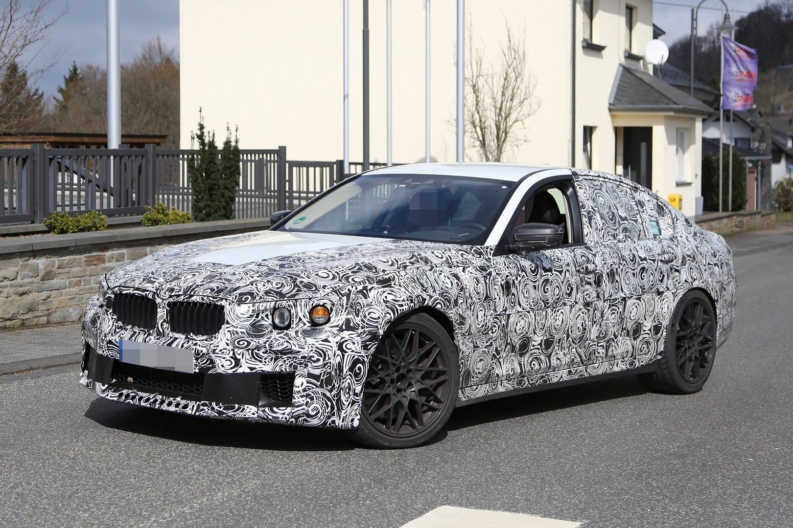 2017 bmw m5 g80 shows new front bumper in latest spy photos autoevolution. Black Bedroom Furniture Sets. Home Design Ideas