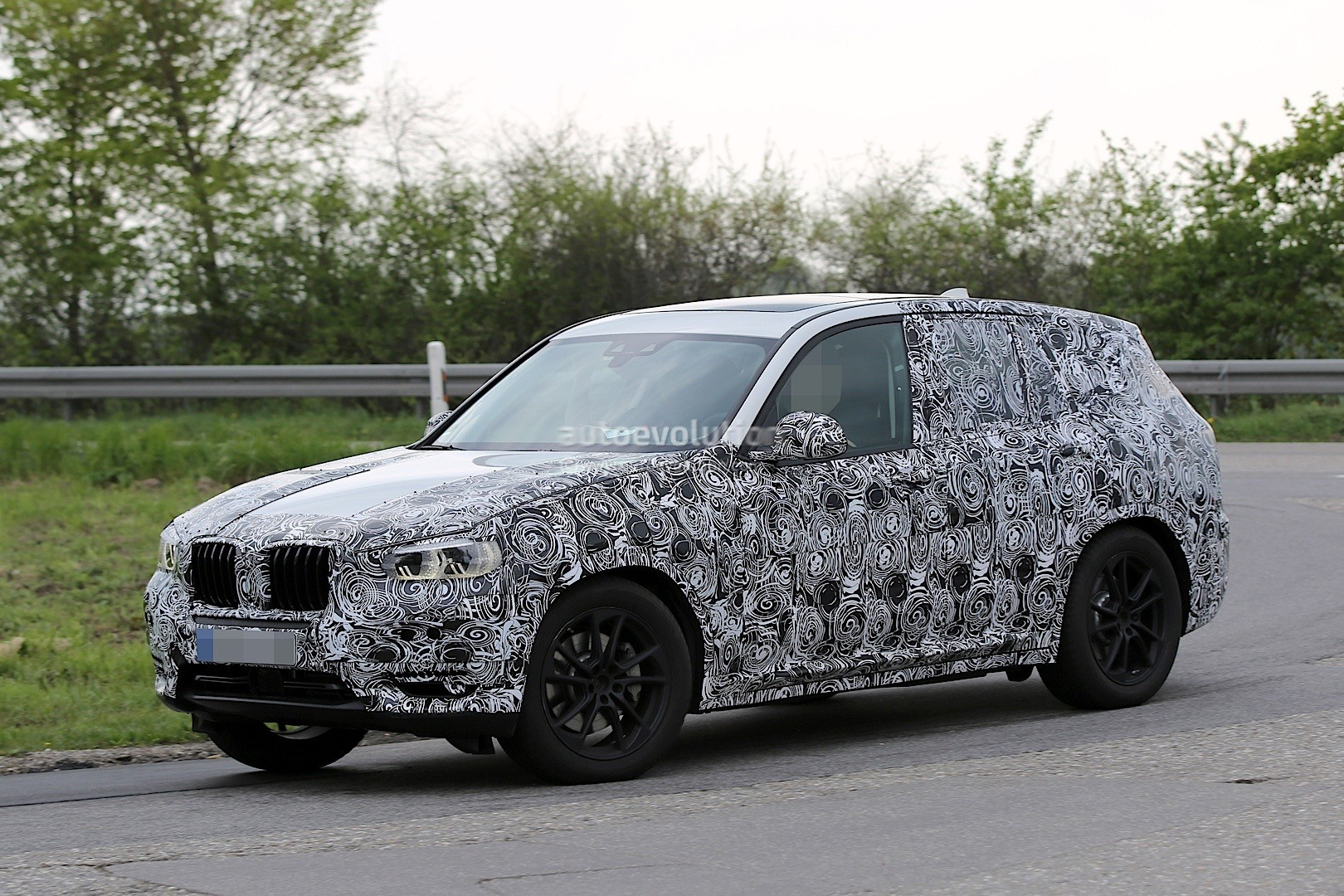 2017 bmw x3 spied inside out autoevolution. Black Bedroom Furniture Sets. Home Design Ideas