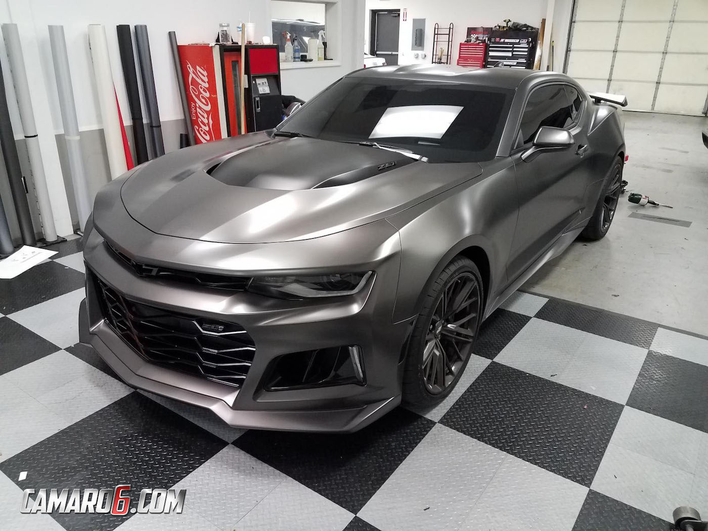 2017 Camaro Zl1 Gets Satin Nero Wrap Extreme Window Tint