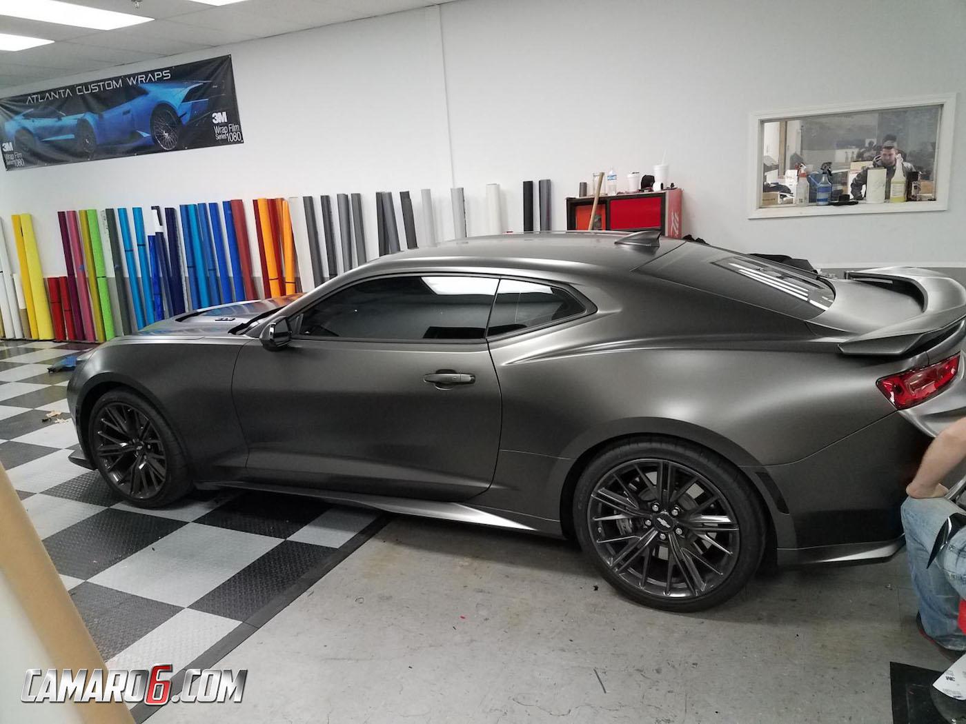2017 Camaro Zl1 Gets Satin Nero Wrap Extreme Window Tint
