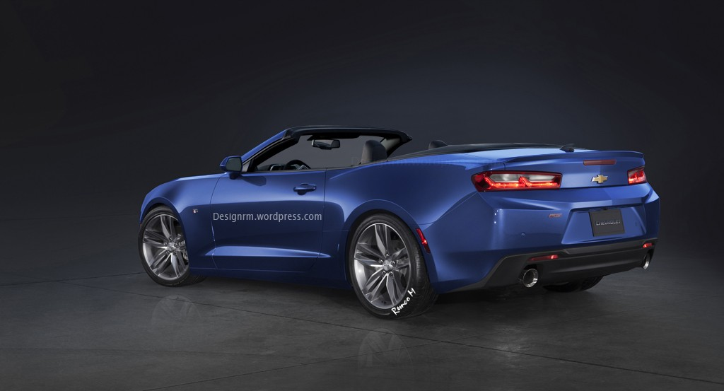 2017 Chevrolet Camaro Convertible Speculatively Rendered ...