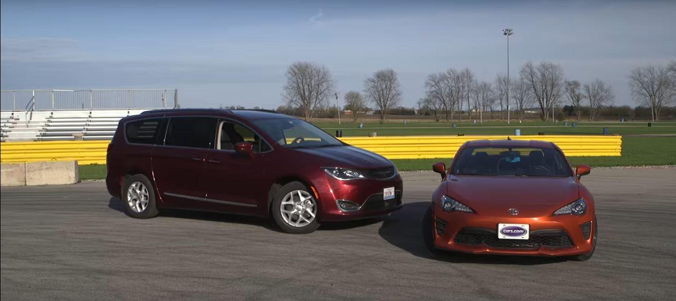 Original 2017 Chrysler Pacifica Spanks Toyota 86 In Clean 14Mile