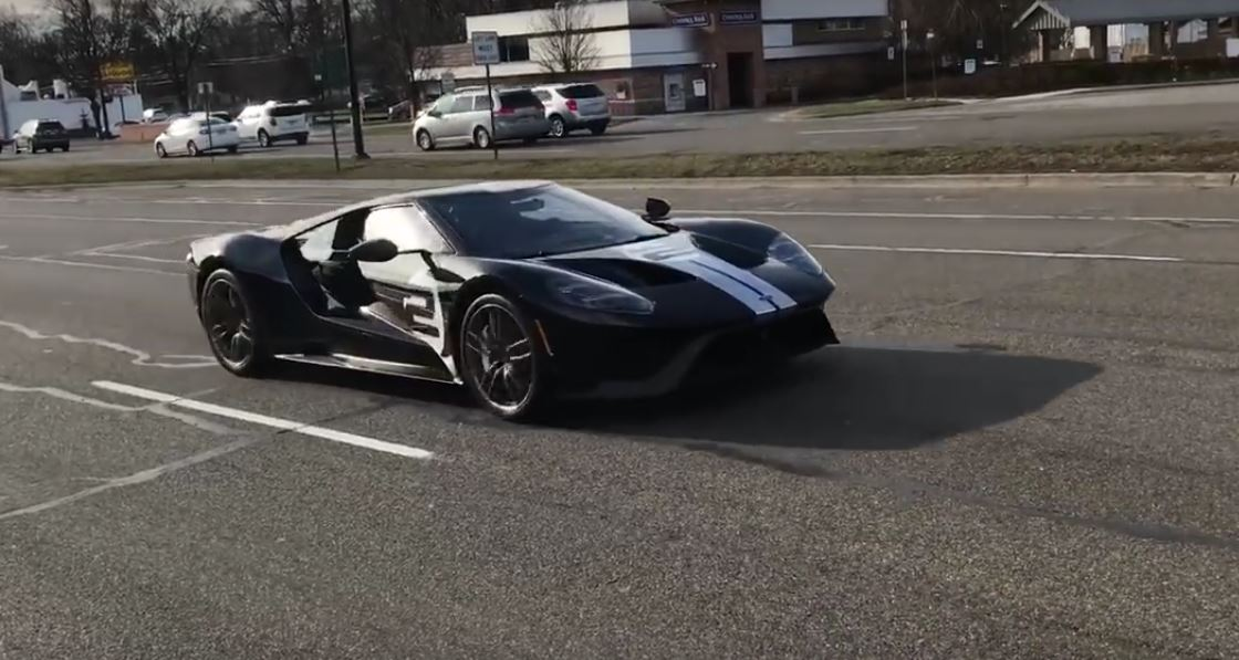 Ford Gt  Heritage Edition On The Street
